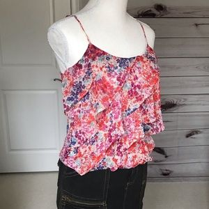 AEO Sheer Bright Floral Top